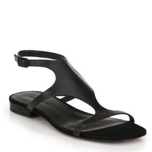 Alexander Wang Black Billie Leather Ankle Sandals